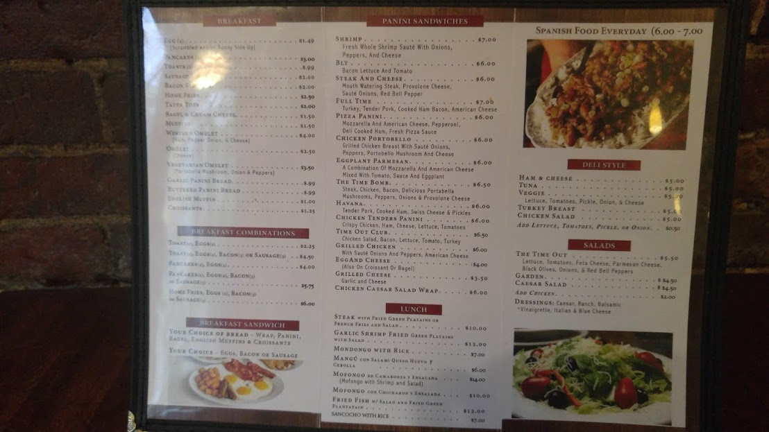 Quite an extensive Menu
