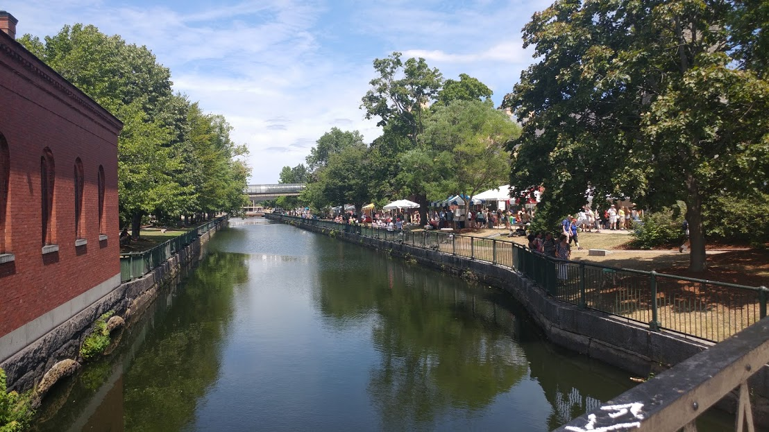 Canal, Lucy Larcom Park